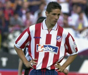 Torres, in action for Atlético in 2001.