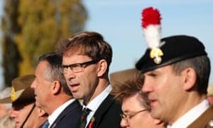 Tobias Ellwood plus soldiers