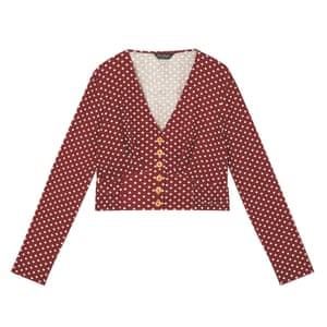 Burgundy polka dot, £32, missselfridge.com
