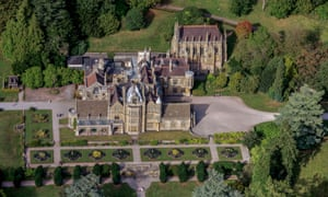 Aerial view of Tyntesfield, North Somerset