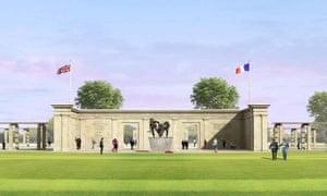 Liam O'Connor's design for the British Normandy Memorial.