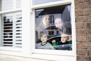 Danielle Wallington and James Watson with their kids Eddie and Isaac Watson