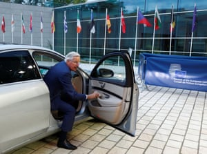Luxembourg The EU's chief Brexit negotiator, Michel Barnier, arrives for a general affairs council