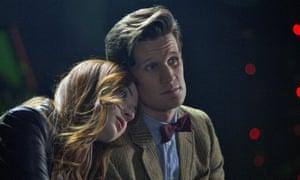 Matt Smith with Karen Gillan in Doctor Who