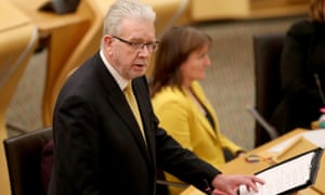 Mike Russell in the Scottish parliament this afternoon.
