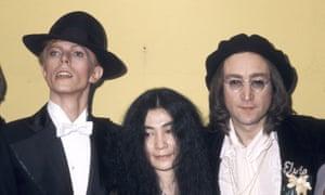 The 17th Annual Grammy Awards: David Bowie, Yoko Ono and John Lennon.