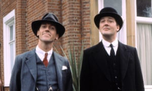 The gold standard of butlering ... Stephen Fry (right) and Hugh Laurie as Jeeves and Wooster.