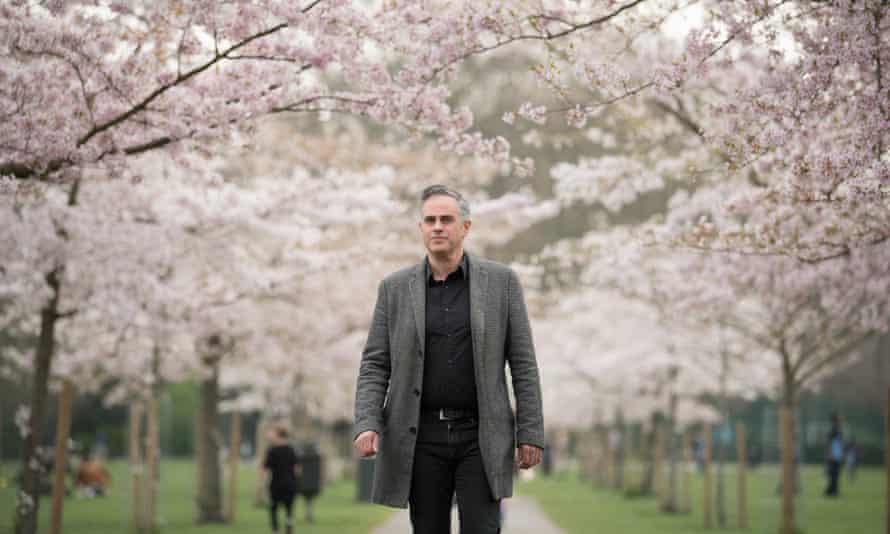 Jonathan Bartley, the Green party co-leader, at Battersea Park in south London
