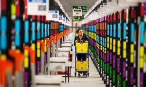 Amazon's UK order fulfilment centre in Hemel Hempstead.