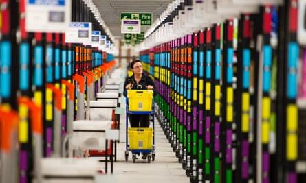 The Amazon Fulfilment Centre in Hemel Hempstead, England.