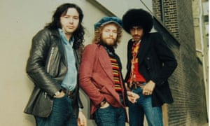 Thin Lizzy – Brian Downey, Eric Bell and Phil Lynott – in 1973.