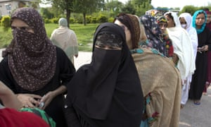 People wait to vote in Islamabad. Pakistan has been directly or indirectly ruled by its military for most of its 71-year history.