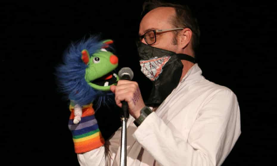 Lip sync, jingles and puppets … Seymour Mace, right.