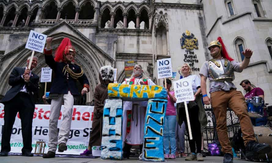 Campaigners outside the high court in central London in June.