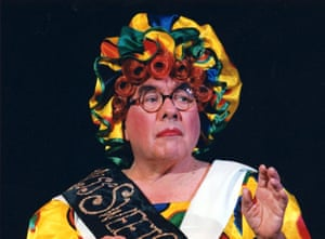 Ronnie Corbett as Mother Goose in Bromley, 1996.
