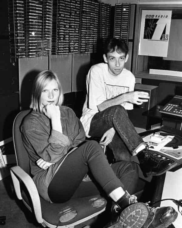 Whiley and Steve Lamacq at Radio 1 in 1994