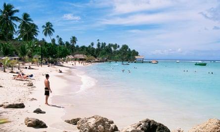 Pigeon Point beach Tobago West Indies Caribbean Central America