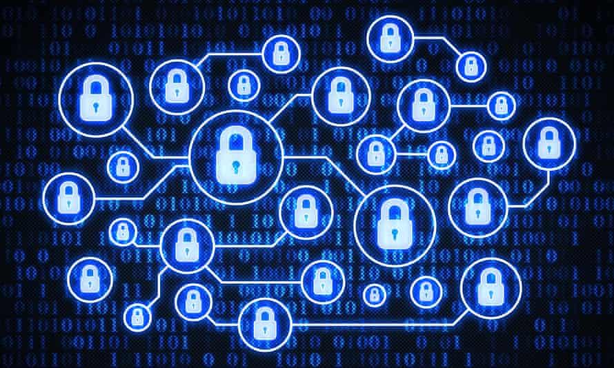 Secure system on digital background