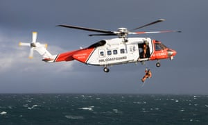 A UK Coastguard search and rescue helicopter