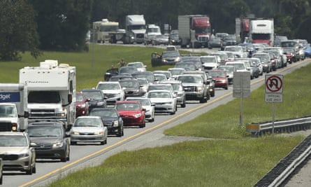 Traffic on the northbound lanes of Florida's Turnpike on Friday, Sept. 8, 2017, as motorists evacuated for the anticipated arrival of Hurricane Irma.