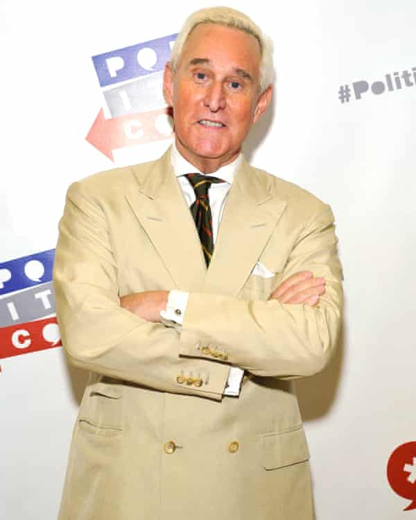 US political strategist and former Trump adviser Roger Stone, who had dinner with Farage in July 2016 at the Republican National Convention.