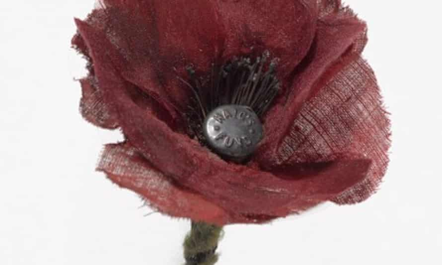 The A very early Scottish remembrance poppy that has been restored