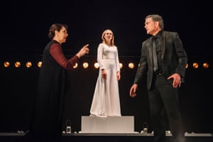 Tragedy and reconciliation … Maureen Beattie as Paulina, Frances Grey as Hermione and John Michie as Leontes.