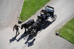 Ponies pull carriage