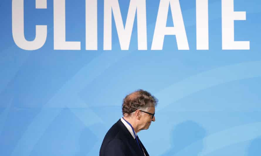 Philanthropist Bill Gates takes the stage before addressing the Climate Action Summit in the United Nations General Assembly in 2019.