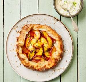 Yotam Ottolenghi's peach, rosemary and lime galette.