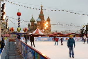 Skating rink on Red Square