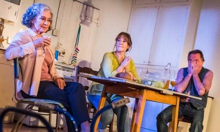 Francesca Annis (Rose), Deborah Findlay (Hazel) and Ron Cook (Robin) in Lucy Kirkwood's The Children.