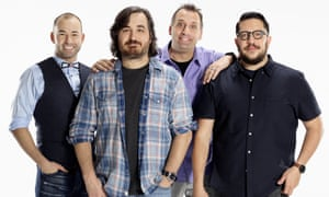 "Flinch mob: Impractical Jokers (left to right) James ""Murr"" Murray, Brian ""Q"" Quinn, Joe Gatto and Sal Vulcano"