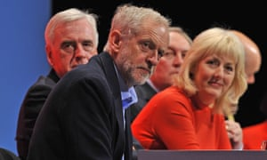 Jennie Formby, here with Jeremy Corbyn and John McDonnell, overhauled the complaints process last year when she became general secretary of the Labour party.