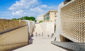Valletta's new City Gate, with the Renzo Piano parliament building on the right.