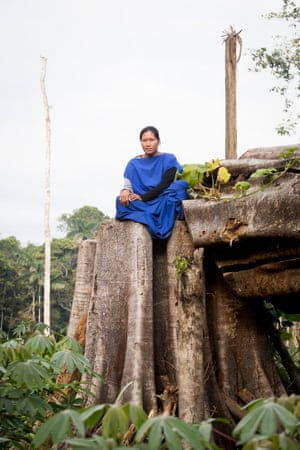 Adelaida Bustamante Sagastizabal, treasurer of the Cutivireni community, who works with Cool Earth to tackle deforestation in the area.