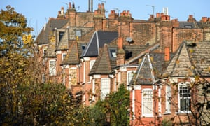 A row of terrace houses in London