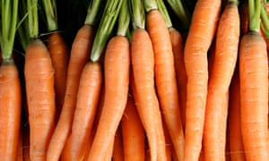 Following blindly ... Improving one's vision by eating carrots is one of many food myths.