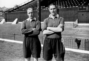 Monty Wilkinson and George Tadman pictured at The Valley, in September 1938.