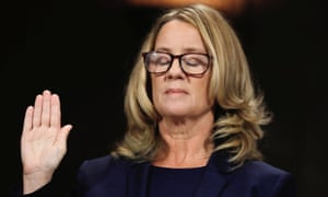 Christine Blasey Ford on Capitol Hill in Washington on 27 September 2018.