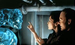 Mary Elizabeth Mastrantonio and Ed Harris in The Abyss.