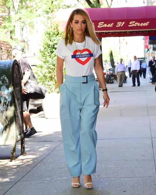 Rita Ora in New York this week, after recording vocals for the Grenfell Tower charity single.