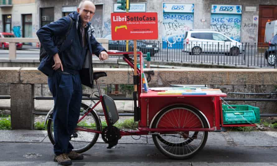 Luca Ambrogio Santini and  his bike