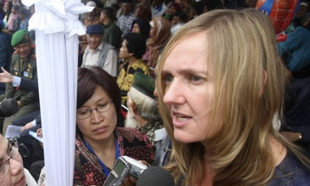 Liesbeth Zegveld, the claimants' lawyer, in Indonesia in 2011