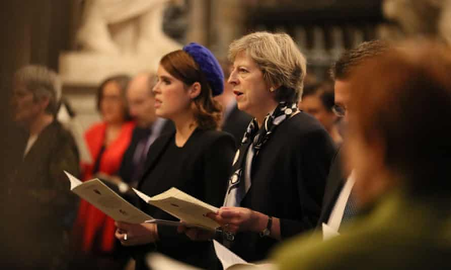 Prime Minister Theresa May attends a service at Westminster Abbey