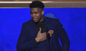 Giannis Antetokounmpo thanked his family, including his late father after winning MVP