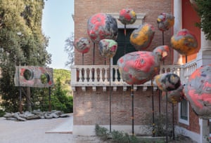 Installation view of Folly by Phyllida Barlow, British Pavilion, Venice.