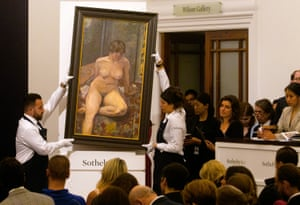 London, England'Nu assis jambe pliee' by Pierre Bonnard sold at hammer for £500,000 at Sotheby's Modern and Impressionist Art Evening Auction.