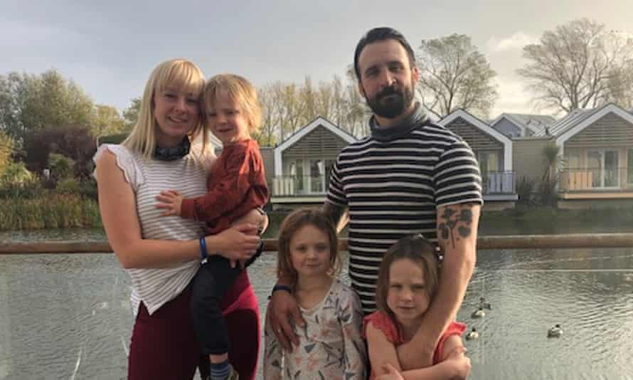 The Melville family: Caroline, Tommy and their children Arlo, Pippa and Elsie