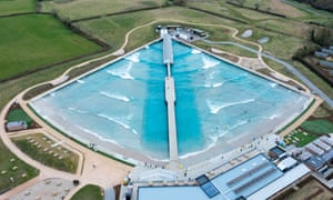 Bristol. An aerial view of the Wave inland surfing centre as it re-opens.